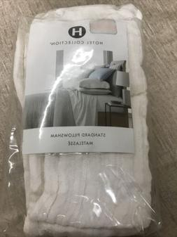 Hotel Collection Matelasse STANDARD Pillow Sham - White