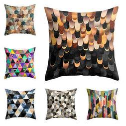 Modern Geometric Pattern Cushion Cover Throw Pillow Case Hot