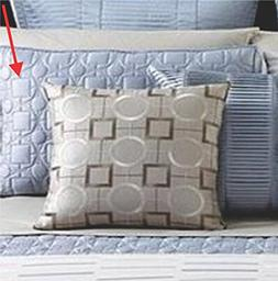 Hotel Collection Modern Deco Gradient Quilted King Sham Tide