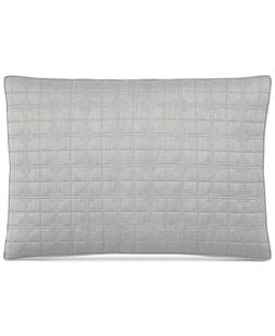 Hotel Collection Modern Plaid Light Beige Quilted KING Pillo