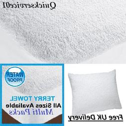 New Luxury Terry/Waterproof Deep Fitted Mattress Protector C