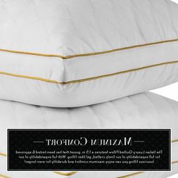 NEW Italian Luxury Quilted Pillow Hotel Quality Plush Gel Fi
