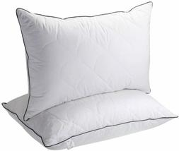 Pillows for Sleeping, 2 Pack Hotel Collection Bed Pillow, Qu