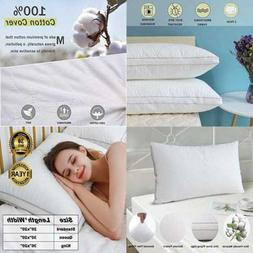 Pillows For Sleeping Bed 2 Pack Hotel Collection Plush Cotto