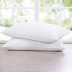 puredown Natural Goose Down Feather White Pillow Inserts for