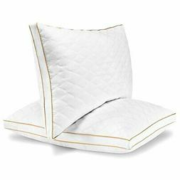 Italian Luxury Quilted Pillow  - Hotel Quality Plush Gel Fib