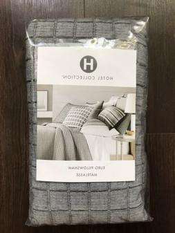 Set of 2 Hotel Collection EURO Pillow Shams PAIR Linen Plaid