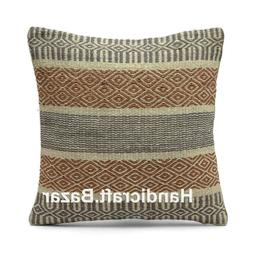 Set of 5 Cushion Cover Home Decor Rustic Pillow Case Floor H