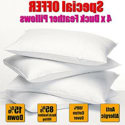 **SPECIAL OFFER** 4 x DUCK FEATHER & DOWN PILLOWS ONLY PACK