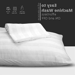 Classic Bed Pillows Queen King Size Washable Pack of 2 Cotto