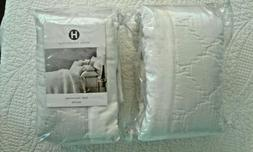 HOTEL COLLECTION TROUSSEAU EURO QUILTED PAIR OF PILLOW SHAMS